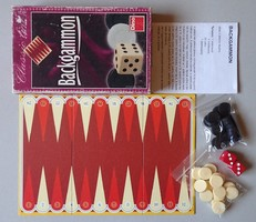 Régi retro Backgammon játék társasjáték görög társas játék Classic Line Dino