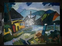 Nagy Oszkár olaj vászon festmény eladó