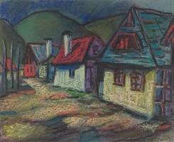 0Y226 Magyar festő XX. század : Erdélyi falu