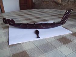 Fa Faragott-Eszkábált Vizi jármű / Kenú / Csónak / Hajó - makett-szerűség - Emlék