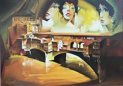 Fassel Ferenc - Firenzei Hölgyek 50x70 cm
