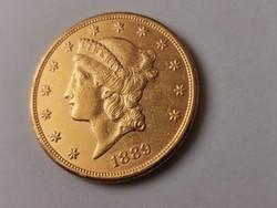 1889 arany USA 20 dollár 33,5 gramm 0,900 Ritka