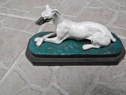 Vasöntöde Ganz és TSa 1850 Eredeti öntöttvas kutya Agár szobr gyűjteményből