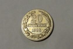 Bulgária,20 Ctotinki 1888.