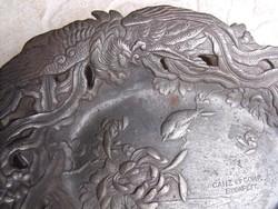 Vasöntöde Ganz és TSa 1850 Eredeti öntöttvas Dísz tál tányér névjegytartó dísztál  gyűjteményből