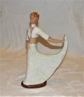 Art Deco  Kerámia Figura H. Rahmer Mária?