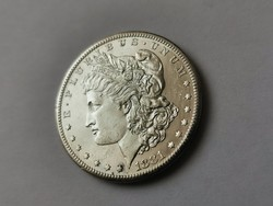 1881 USA ezüst dollár,gyönyörű verdefényes állapotban 26,7 gramm 0,900 így RITKA
