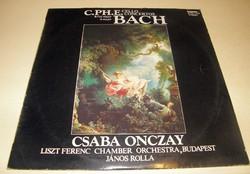 Bakelit hanglemez. Bach: Csaba Onczay Gordonka