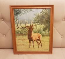 Szarvasbőgés Akvarell kép.