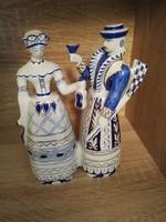 Hollóházi porcelán barok vadász pár!