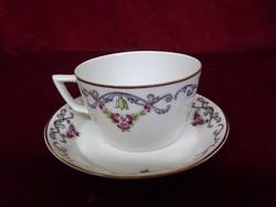 H & C --Schlaggenwald csehszlovák porcelán teáscsésze + alátét.