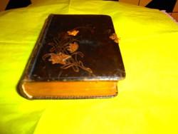 1892 év Antik bőr Imakönyv -aranyozott lapéllel