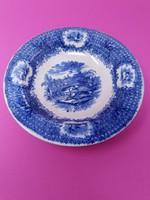 Angol vadászjelenetes kobaltkék tányér
