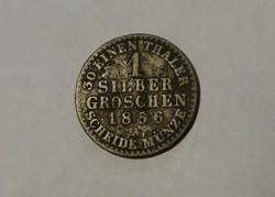Porosz ezüst garas 1856 A.