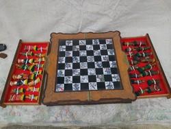 Kínai kézzel készült sakk készlet. Nagyméretű.