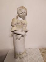 Nagyméretű 35 cm Kovács Éva kerámia leány
