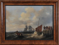 Karl Eduard Detloff (1804-1857): Kikötői jelenet