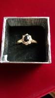 Zafír drágaköves arany gyűrű