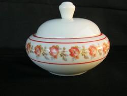 Drasche porcelán rózsás cukortartó