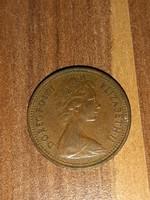 1 penny II. Erzsébet Anglia 1971