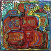 Kozma István - Menyecske 60 x 60 cm olaj, vászon