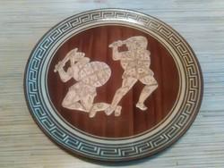 Görög kerámia fali dísz tányér
