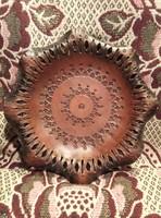 G_002 Bőr fali kép fali tányér retro