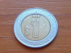 MEXIKÓ MEXICO 1 PESO 1998 BIMETÁL #