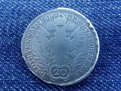 Ausztria II. Ferenc .583 ezüst 20 Krajcár 1806 A / id 1432/