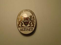 Budapest Székesfőváros Altiszt gomblyukjelvény .