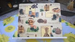 Új fenyőfa -szakácskönyvtartó 2 féle -ajándékba is