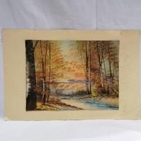 """Krancz Ferenc """" Őszi erdő """" 1936 tájkép festmény"""