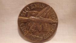 Katonai bronz emlék plakett