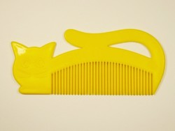 Retro cicás macskás óvodai gyerek műanyag fésű - 1970-1980-as évekből