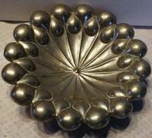 Szecessziós fém asztalközép kínáló
