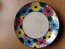 Régi ! Városlődi kerámia tányér virág mintával mélynyomott jelzés