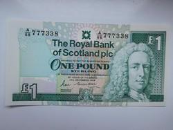 Skócia 1 pounds 1988 UNC Ritka!