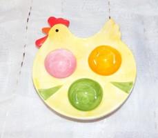 Tyúk alakú tojástartó kínáló, tál