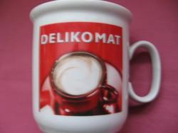 Retro DELIKOMAT kávés bögre
