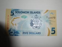 Salamon szigetek 5 dollár 2019 UNC Polymer