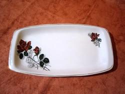 F_032 Régi Román porcelán süteményes, sültes kínáló tál, tányér 29 x 15 cm