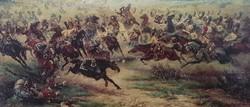 Hatalmas csatajelenet 130x80 cm, Viktor Mazurowski: Frydland 1807,