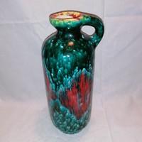 Jelzett retro iparművész kerámia váza , kiöntő 25,5 cm