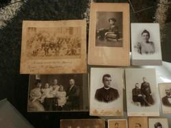 Antik fotók 11 db