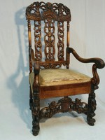 Baroque carved throne chair xvii. From the end of the century