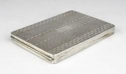 0W757 Régi jelzett ezüst cigaretta tárca dózni