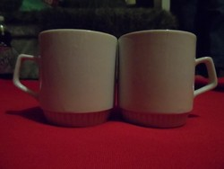 Régi,alul bordázott porcelán bögre  2.db
