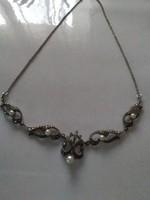Antik markazit köves  gyöngyös ezüst collie