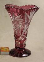 Antik lila kristályváza 422