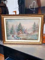 Czinege Zsolt  Tél cimű festménye